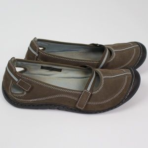Clarks mary jane shoes flats brown blue leather